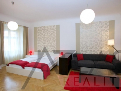 LONG term/MEDIUM term rent of 1BD modern fully furnished apartment 58m2, Prague 1, close to the metro station Namesti Republiky (line B)