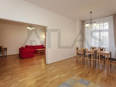 Two bedroom fully furnished flat for rent, 110 m2, Prague Vinohrady
