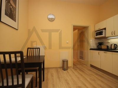 For rent furnished studio apartment with possible parking in garage Praha 2 - Vinohrady, Máchova street