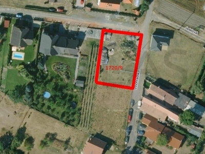 For sale plot for of building family home Mělník Slovany, Vinohradska street