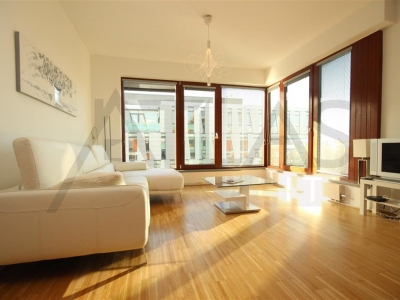For rent furnished apartment 62 m2, Prague 8 - Karlin, Rohanska nabrezi (Vltava Riber bank) resicence River Diamond