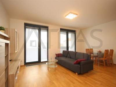 For rent one bedroom furnished apartment 67 m2 with underground parking Prague 7 - Holesovice, Delnicka street