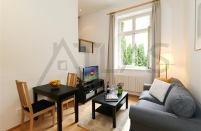 For rent furnished studio apartment Praha 2 - Vinohrady, Belgicka street