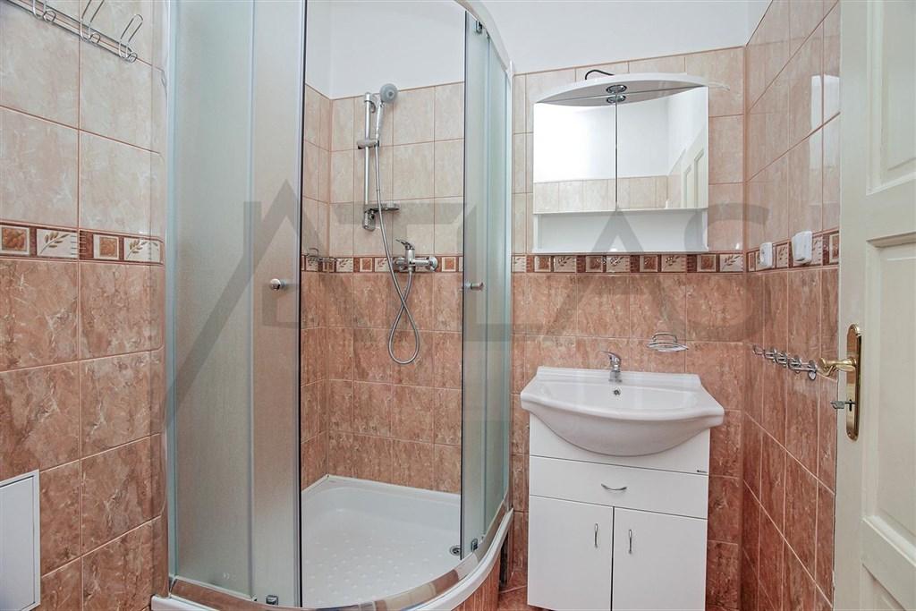 koupelna se sprchovým koutem Pronájem zařízeného bytu 3+1, Praha 2 - Vinohrady, metro A Náměstí Míru